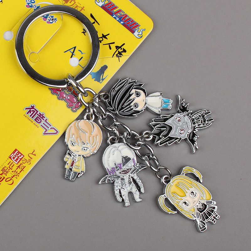 Wholesale 10pcs/lot Japanese Anime Death Note Metal Toys Figure Keychain Key Ring For Christmas gifts Free Shipping(China (Mainland))