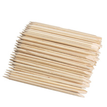 100pcs Nail Art Orange Wood Stick Cuticle Pusher Remover for Manicures Care Free Shipping F#OS