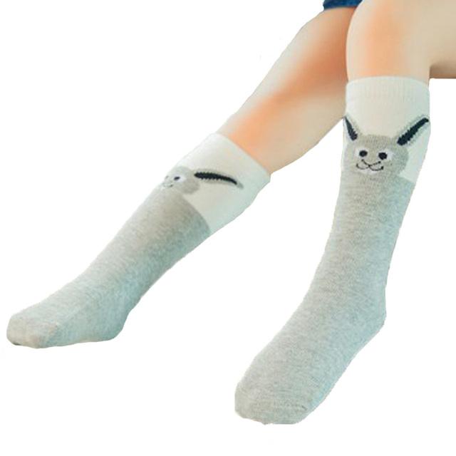 Зимние хлопковые высокие носки для детей