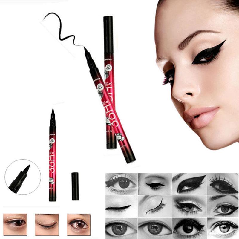 1 PCS Hot Final Delineador Líquido Preto Long-lasting Makeup Tools Cosméticos À Prova D' Água Eye Liner Pencil Pen Agradável música flor