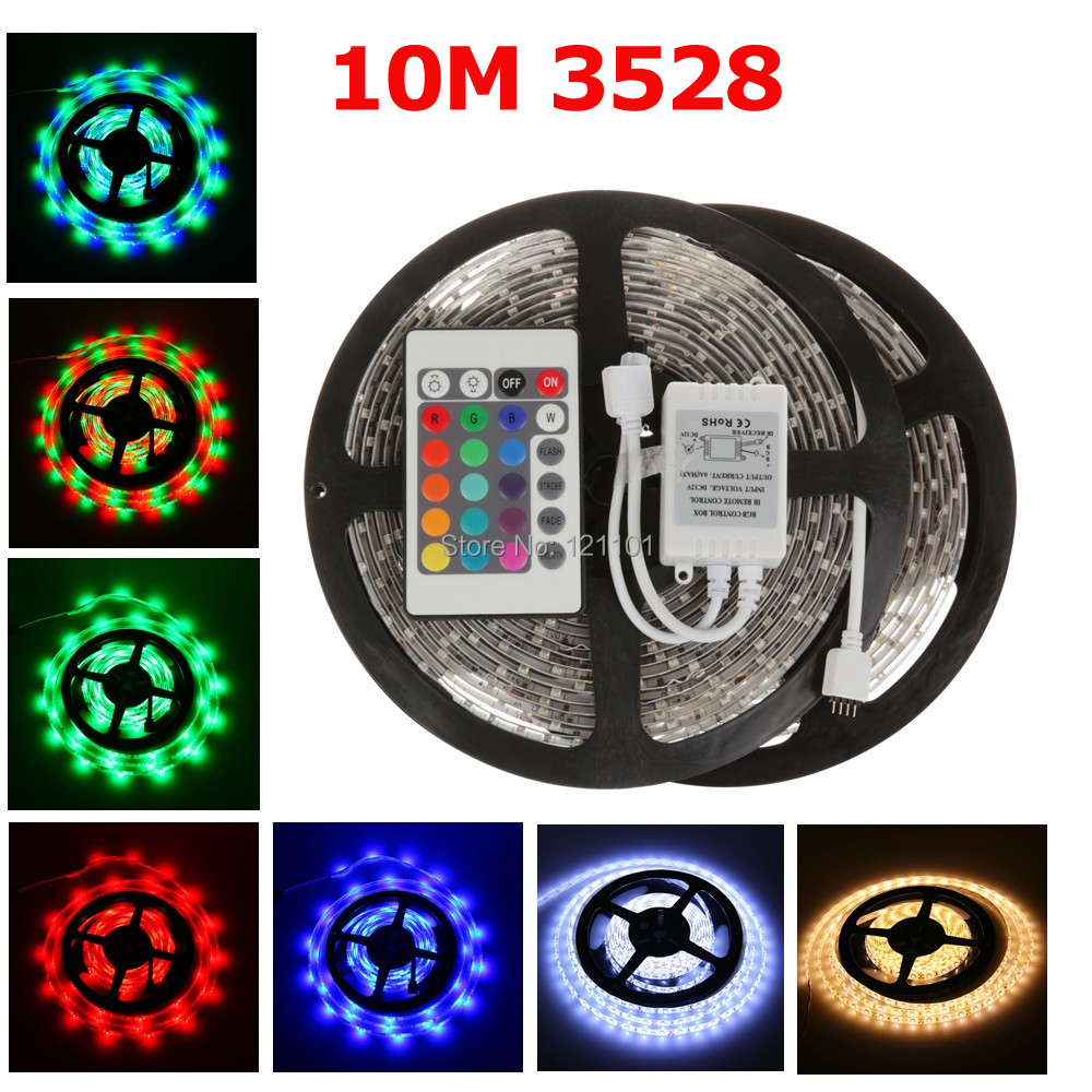 10m / lot LED flexible light 3528 SMD 12V 60 led/m Non- Waterproof IP20 LED strip light white/warm white/RGB Free Shipping(China (Mainland))