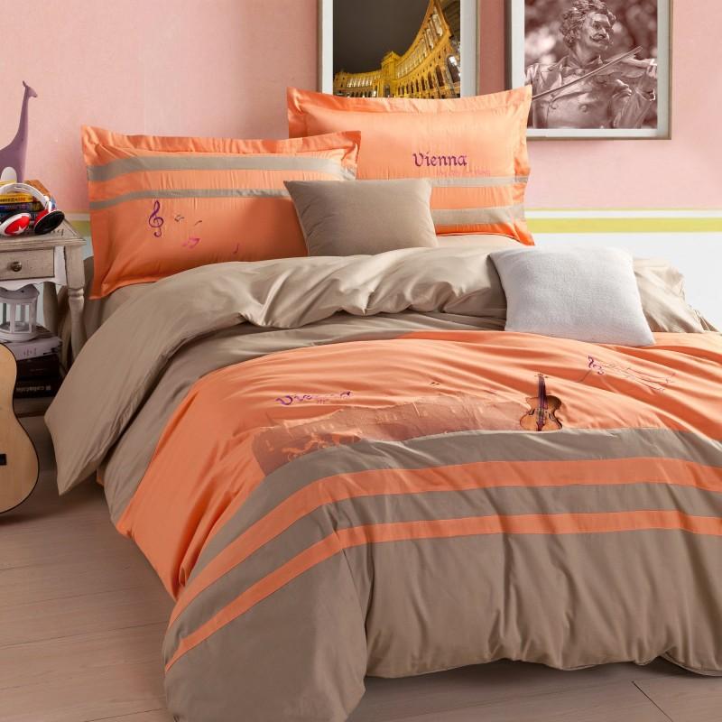 Achetez en gros orange couette mod les en ligne des for Housse de couette orange