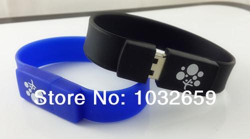 Popular Men Wrist Bracelet / Wristband PVC/ Rubber Usb Flash Drive/ Disk / Usb Stick 1GB 2GB 4GB 8GB 16GB 32GB 64GB available(China (Mainland))