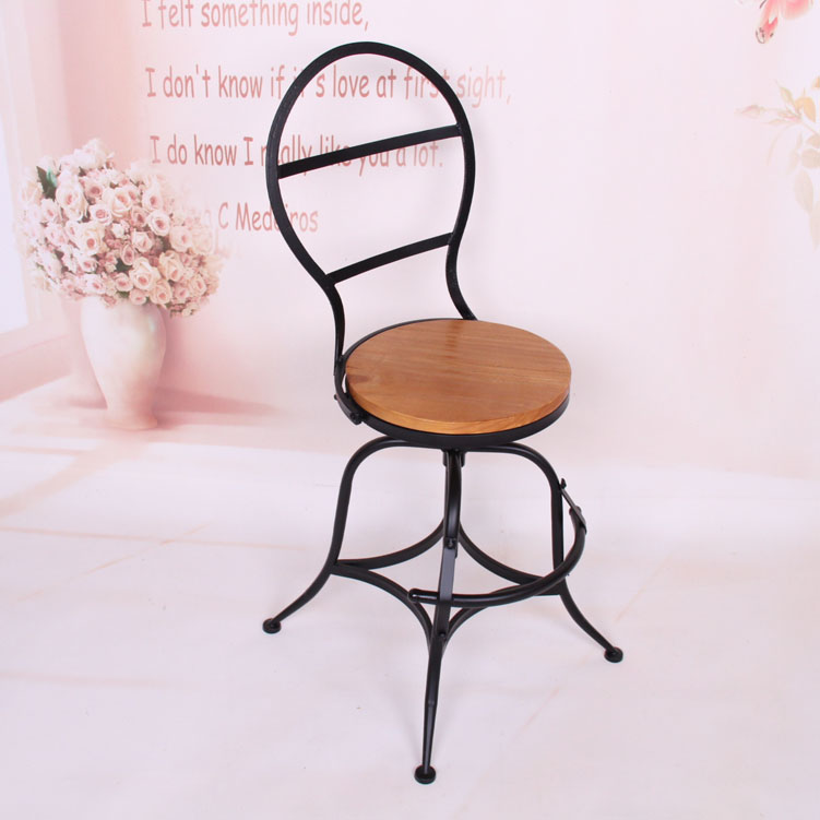 American country wrought iron chairs  lounge chair rotating wooden lift Reception<br><br>Aliexpress