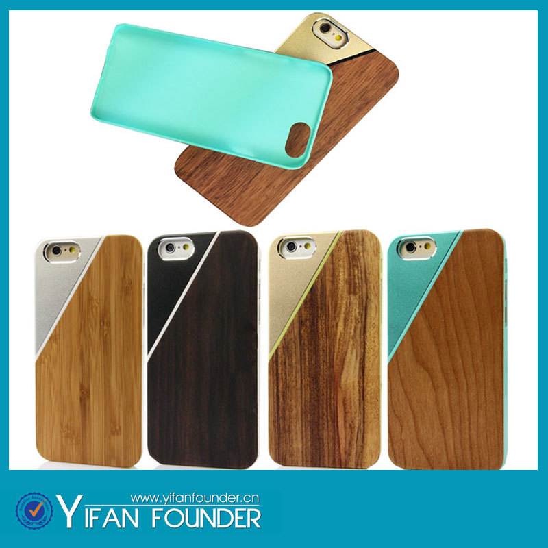 New products for iphone 6 mobile phone case,metal wooden case for iphone 6 newest design(China (Mainland))