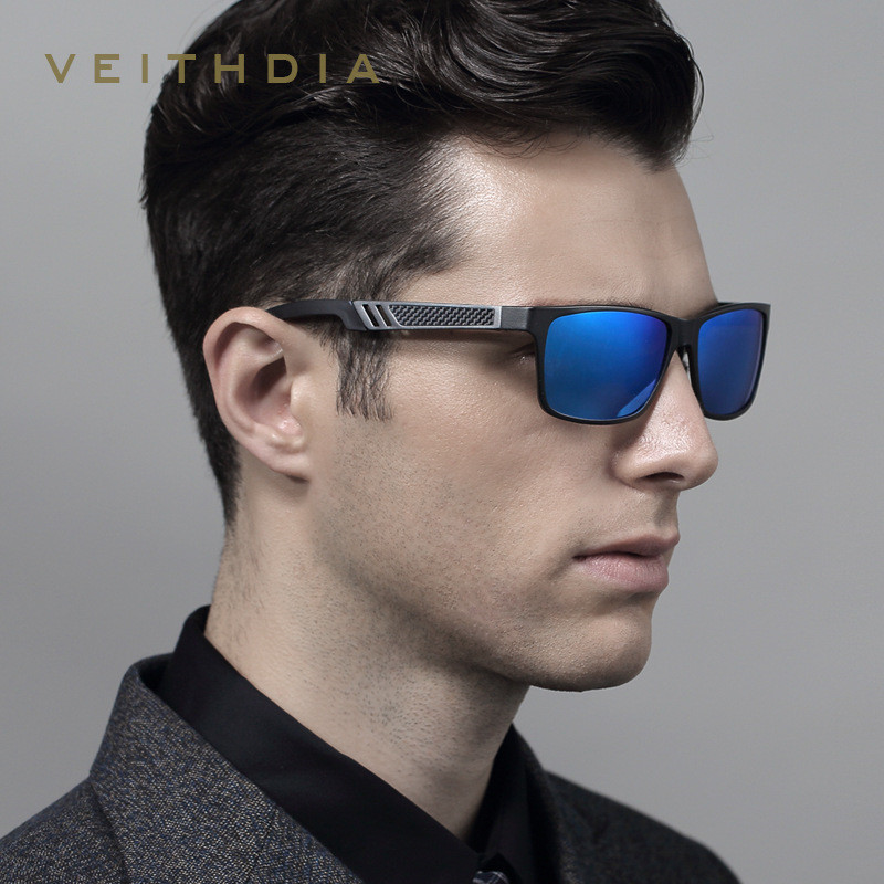 Aluminum Polarized Mens Sunglasses Sun Glasses Driving Mirror Glasses Square Goggle Eyewear Accessories For Men veithdia 6560(China (Mainland))