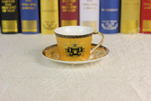 Factory Direct European coffee cup and saucer coffee cup coffee cup coffee cup golden suit