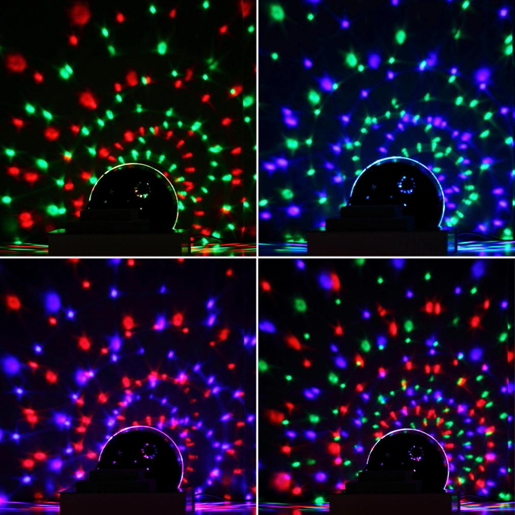 1 pcs New Hot Selling 3 Colors LED Crystal Magic Ball Effect Light Disco DJ Stage Party Wholesale Store(China (Mainland))