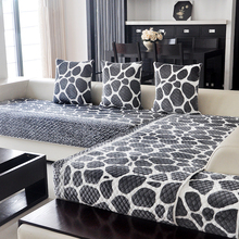 2016 New Arrival Plush Flocked Plain Striped Combination Kit Sectional Sofa Cover  Fabric Cover Sofa Couch Cover(China (Mainland))