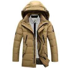 2015 New Fashion Men Winter Winter Down Jacket Withe Duck Down Jackets Parkas Solid Outdoor Warm Hood Down Coat 13M0198