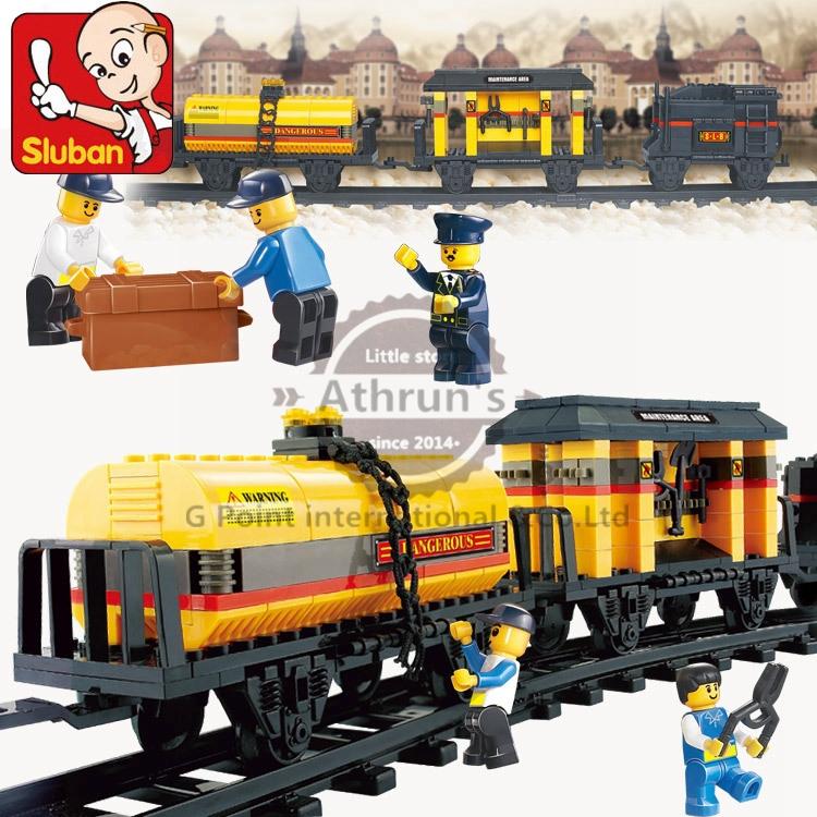 Sluban block century train freight Shinkansen 328pcst M38-B0233 Children enlightenment educational assembly Compatible With Lego