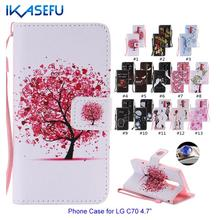 Buy IKASEFU Leather Phone Case LG C70 Stand Wallet Flip Cover LG Spirit 4G LTE H420 H422 H440 LGC70 Soft Silicon Cover Coque for $3.99 in AliExpress store