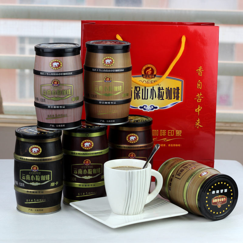 Small grain coffee canned instant three in coffee gift 780g snacks