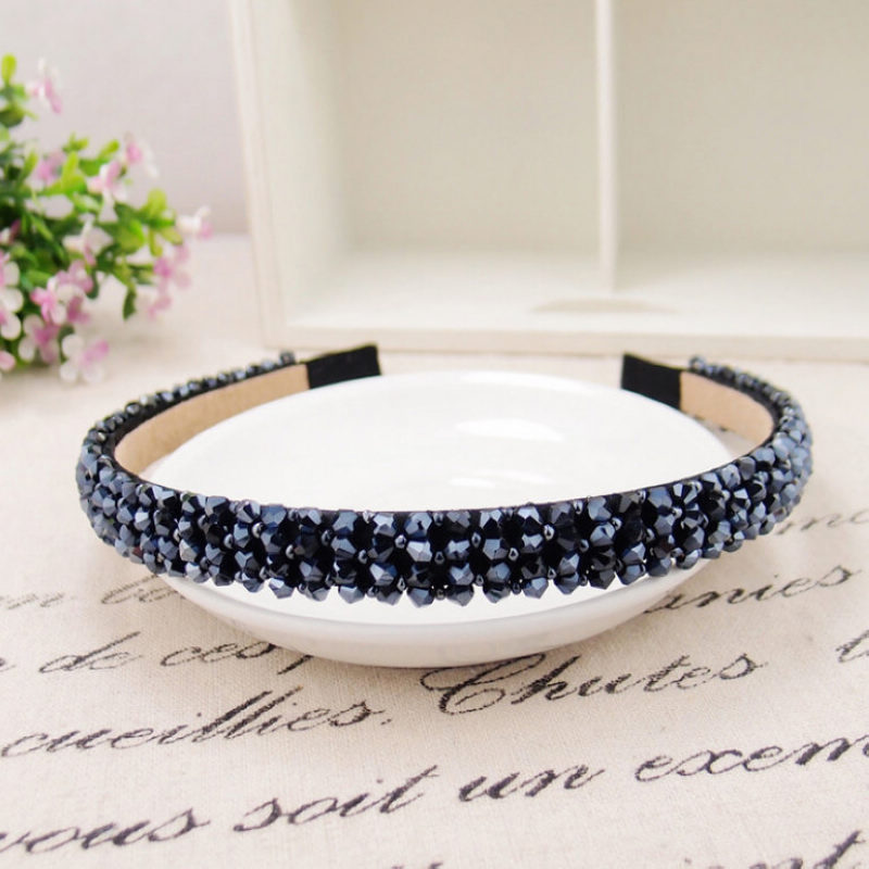 Luxury Women Girls Handmade Headbands Crystal Diamante Beads Hair Wear Alice Hair Band Hair Clasp Hair Styling Accessory(China (Mainland))