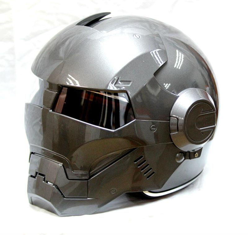 Free shipping 2015 hot MASEI Silver IRONMAN Iron Man helmet motorcycle half helmet open face helmet casque motocross 610 M L XL