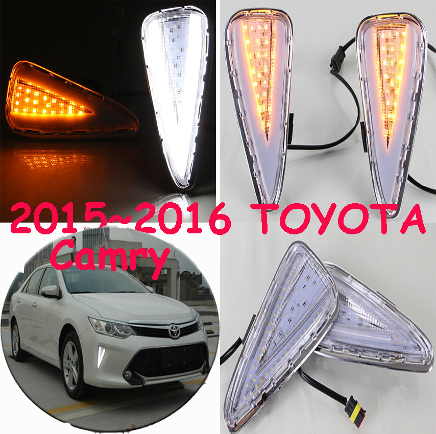 2015~2016 TOYOTA Camry car LED daytime running light+Free ship to your door,2pcs/set+wire of harness,10~12W 12V,6000K,good!