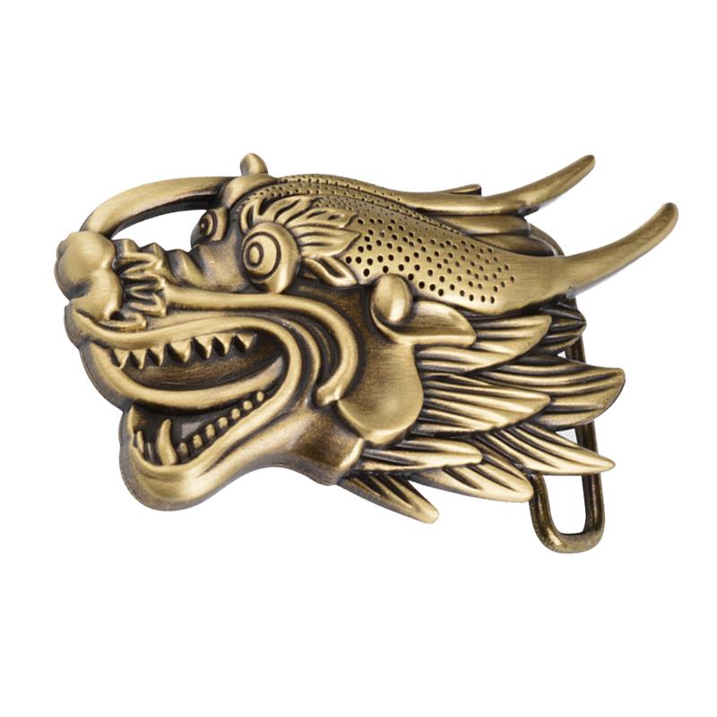 Antique Finish Retro Men's Brass Copper Belt Buckle for Men,Vintage,Dragon(China (Mainland))
