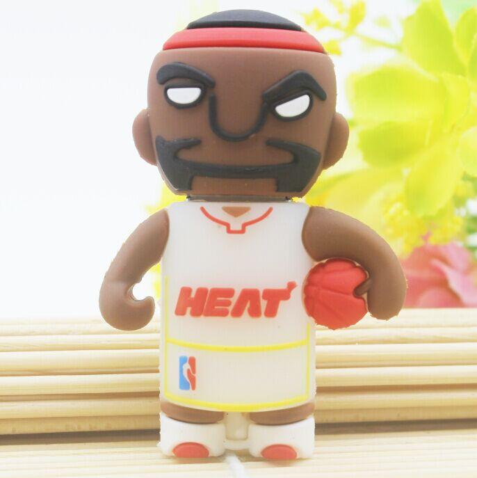 Wholesale Miami Heat team Basketball Pen Drive USB Memory Flash Stick USB Flash Drive 4GB 8GB 16GB 32GB Famous basketball player(China (Mainland))