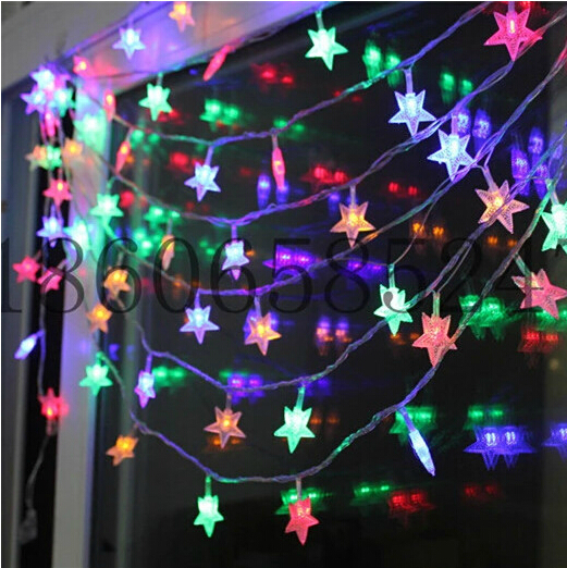String Of Led Star Lights : Aliexpress.com : Buy Led string light Star led lighting 10M 100led Christmas Star String light ...