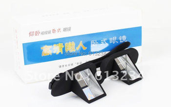 wholesale 2014 In stock High Definition Glasses Lazy people glasses,Novelty Bed Lie Down Periscope Glasses
