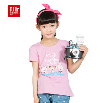 2015 news girls t shirts Sweet & Lovely printed for girls tee shirts short sleeve the princess clothing free shipping size 4-11y