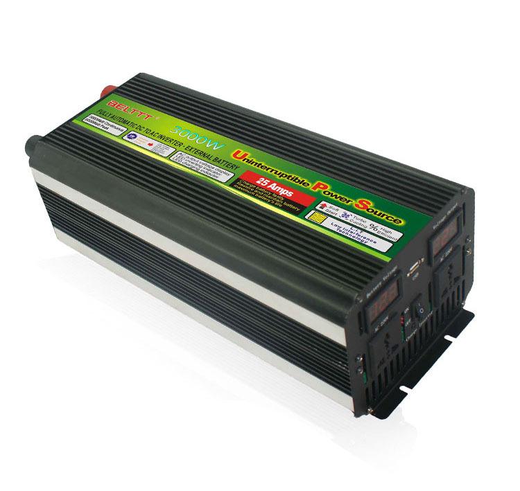 12/24 DC to 120/220/230/240VAC Digital LED Display Modify wave Solar Inverter 3000W 50Hz Or 60Hz Off Grid Inverter(China (Mainland))