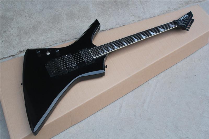 Free Shipping Factory Custom Best Price Left handed Jackson KE2 Kelly electric guitar Black guitar 16 131(China (Mainland))