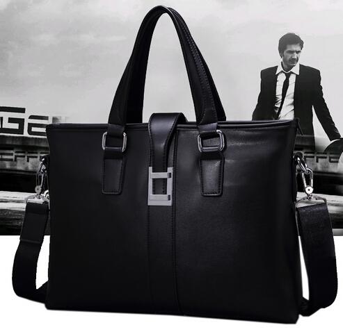 Men's Bags Document Business Bag For Men's Handbags One Shoulder Inclined Shoulder Bag Cross Section Leisure Men Leather Bag(China (Mainland))