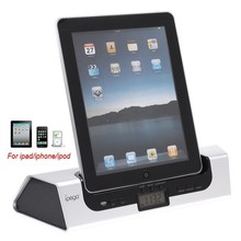 Brand New Ipega HIFI Audio Stereo Speaker+Dock Station Charger With LCD Data Clock Alarm For Iphone 3G 4 4S/Ipad 2 3/Ipod