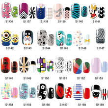 14 Tips NAIL Art Full Self Adhesive Stickers Polish Foils Transfer Tips Wrap Decals Manicure Tool(China (Mainland))