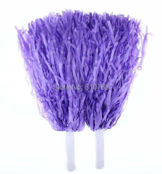 Free Shipping Purple Supplies cheerleaders took ball ball cheerleaders flower plastic hand flowers cheerleading pom poms#1830