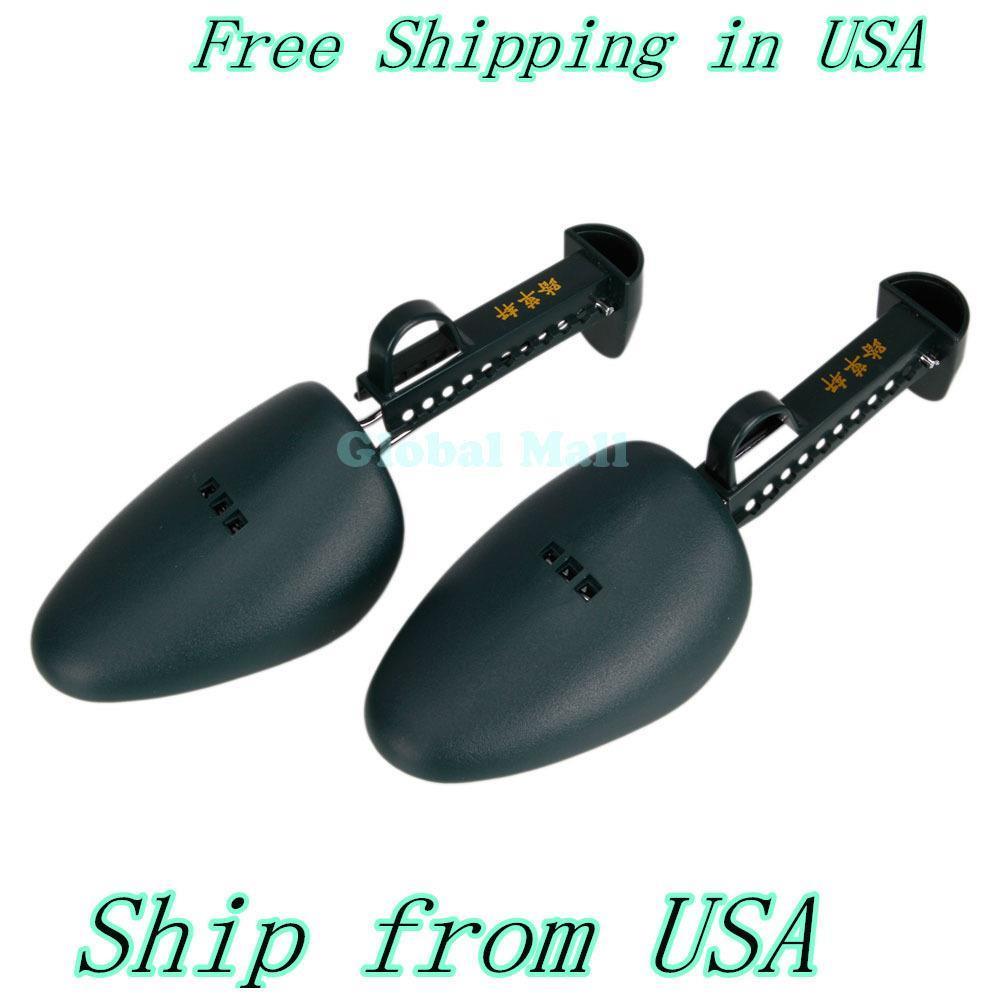 Ship From USA Men Practical Green Plastic Shoe Tree Shoe Stretcher 13008775(China (Mainland))