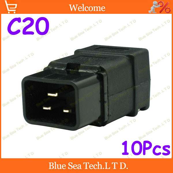 Free Shipping 10pcs IEC320-C20 SS-809 Power Cable Cord Connector C20 Male Receptacle PDU power wiring Detachable plug,UPS plug<br><br>Aliexpress