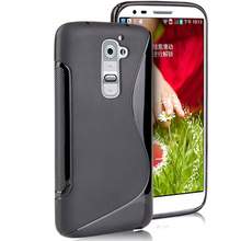 Ultra Thin Matte Elegant S Line Shape TPU Gel Case For LG Optimus G2 D802 Rubble Skin Black cover Wholesale Free Shipping