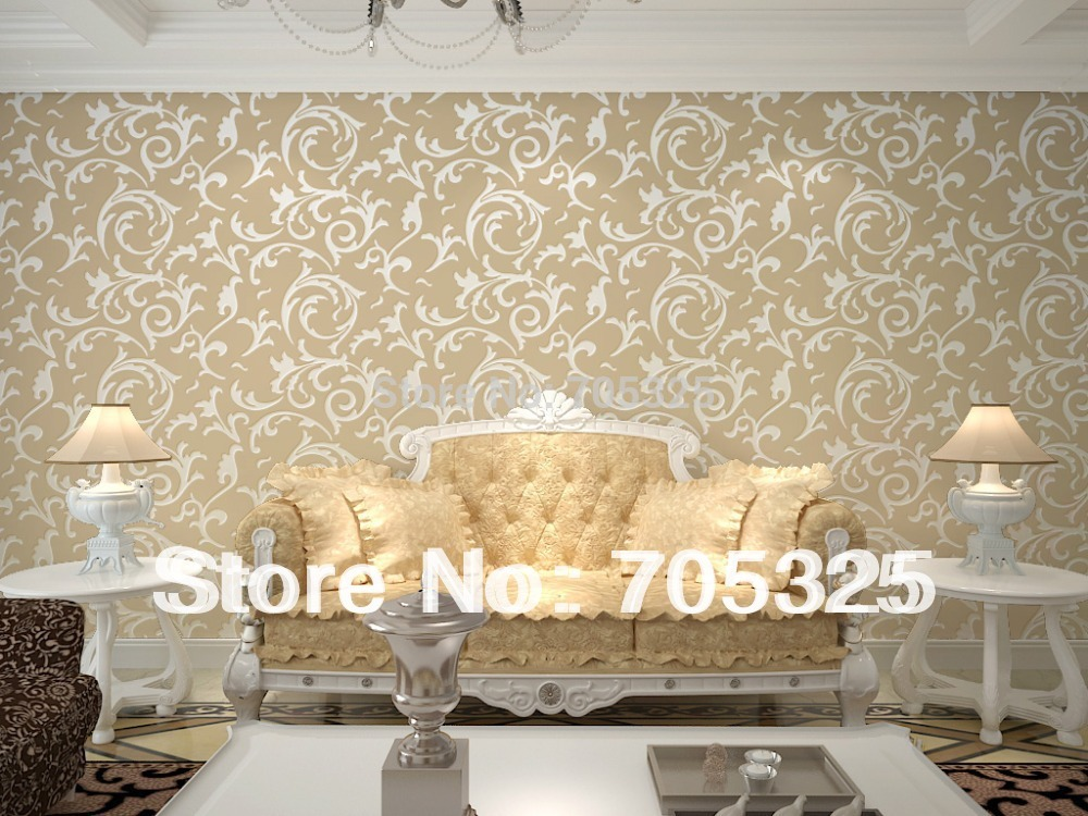 Pics For White And Gold Damask Wallpaper
