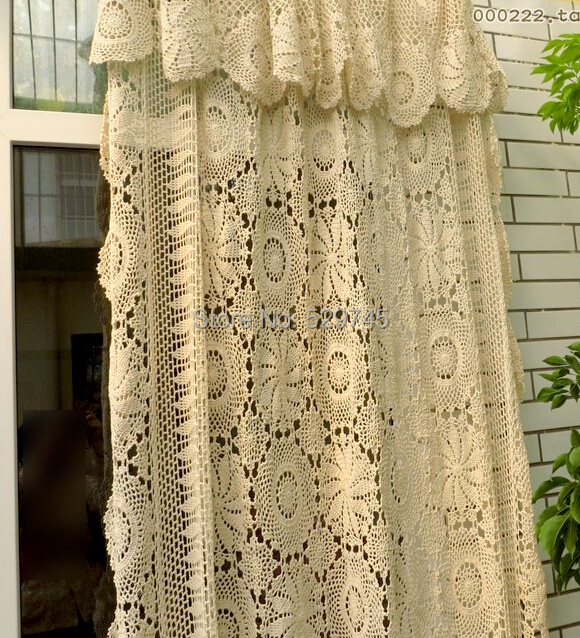 com buy handmade crochet flowers woven cotton lace curtains