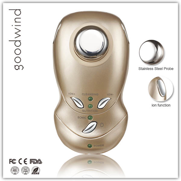 light therapy bed galvanic photon ultrasonic ion led red light therapy machine facial massage(China (Mainland))