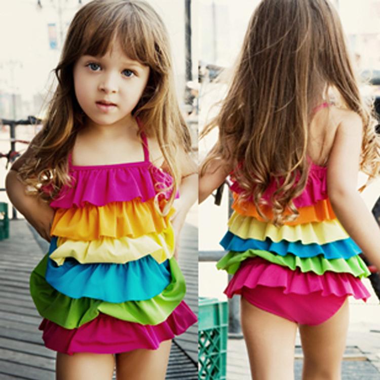 Hot-selling child swimwear 2013,one-piece dress girl baby female bb01