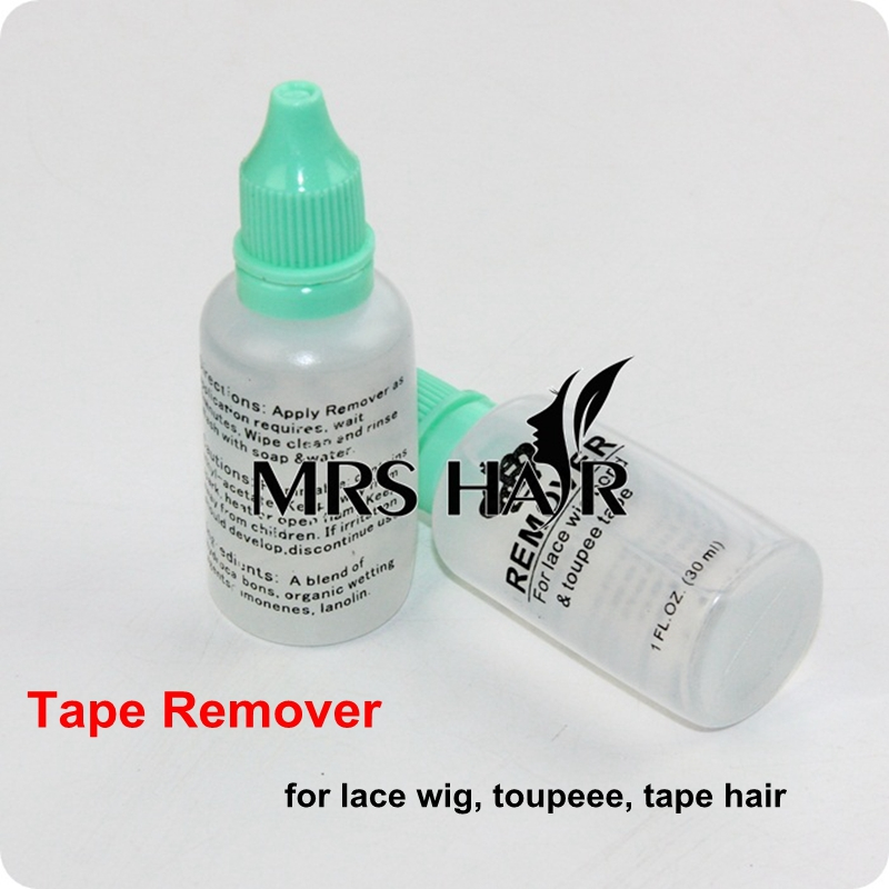 Tape Remover For Skin Weft Hair Extensions Tape Lace Wig 30ml each bottle 1FL.OZ Professional toupee remover(China (Mainland))