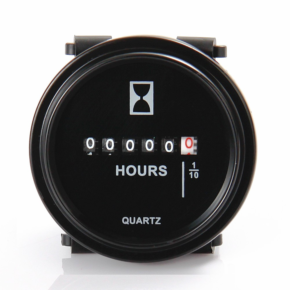 Battery 24 Volt Hour Meter : Round dc volt hour meter gauge quarzt