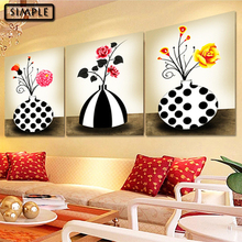 Full DIY 5D Diamond Painting Cross Stitch Flowers Vase Diamond Embroidery Mosaic Weding Decoration for Living Room a set 3pcs