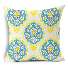 Buy Romantic Decorative Cushion Covers Pattern Sofa Chair Waist Cotton Linen Throw Pillow Cover Fashion Pillowcase Home Decor for $3.39 in AliExpress store