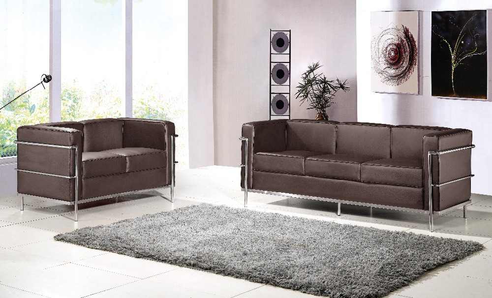 U-BEST Le Corbusier LC2 sofa set,LC2 2 seater +3 seater sofa set,designer furniture,living room sofa,2+3 seater sectional sofa(China (Mainland))