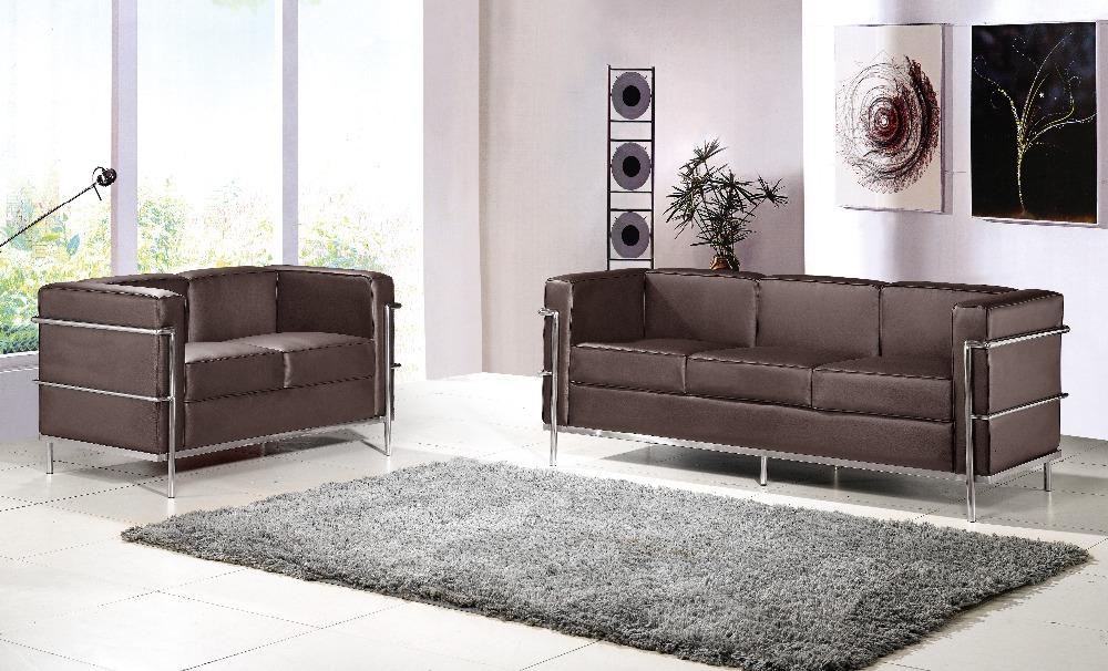 U-BEST Le Corbusier LC2 sofa set,LC2 2 seater +3 seater sofa set,designer furniture,living room sofa,2+3 seater sectional sofa(China (Mainland))