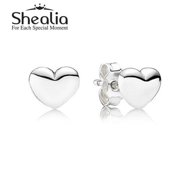 Подходит своими руками ювелирные изделия аксессуары весна в форме сердца серьги-гвоздики 925 чистое серебро SHEALIA ювелирные изделия EAR007