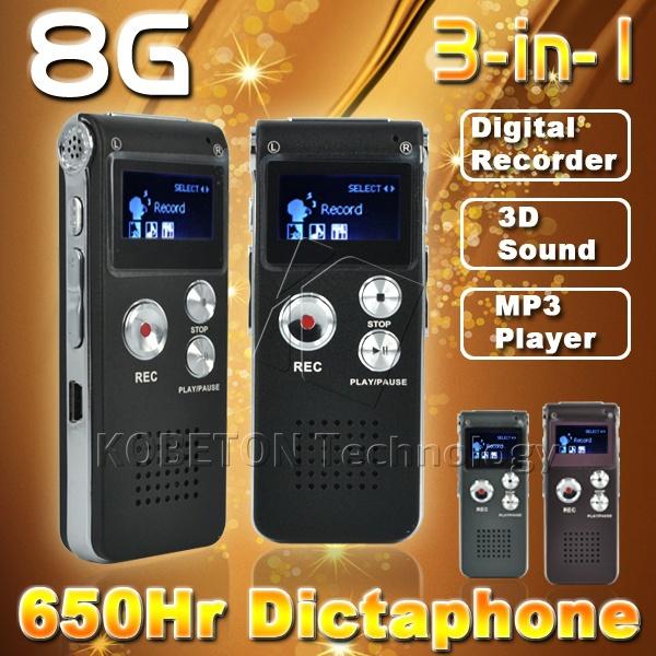 8GB Mini USB Flash Pen Disk Drive 8G Digital Audio Voice Recorder 650Hr Dictaphone 3D Stereo MP3 Player Grabadora Gravador(China (Mainland))