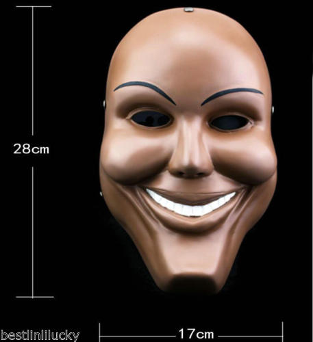 Hote Sale Best Quality Resin Smile Face The Purge Mask Anarchy Movie Prop Halloween Masquerade Cosplay(China (Mainland))