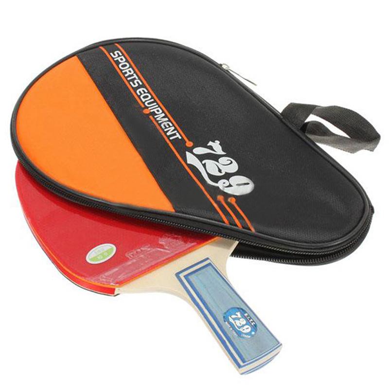 Cheap Price Table Tennis Set Short Handle Ping Pong Racket Paddle + Bag 729-1060(China (Mainland))