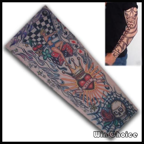 Free shipping temporary tattoo sleeve 10pcs 5pairs at for Tattoo sleeve price