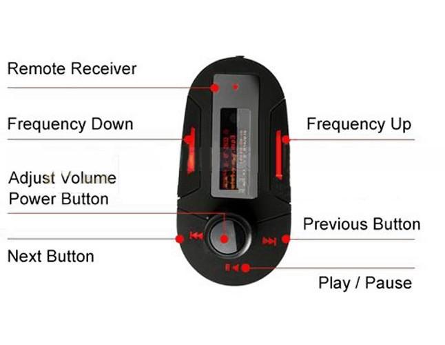 Red-Remote-Car-Kit-MP3-Player-Wireless-FM-Transmitter-Modulator-USB-SD-MMC-LCD-remote-control (2)